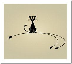 """""""chat noir la misère vous guette""""!"""