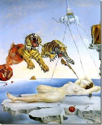 rêve causé par le vol d'une abeille autour d'une pomme-grenade une seconde avant l'éveil