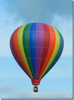 Envol en montgolfière